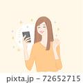 スマホ女性笑顔1 72652715