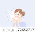 スキンケア美肌女性うるおい1 72652717