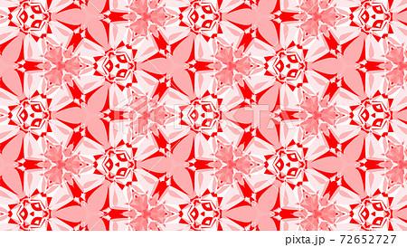 赤と白の万華鏡、美しい幾何学模様 [別Verあり] 72652727