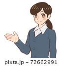案内する女性のイラスト 72662991
