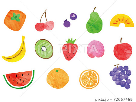 果物_セット_水彩 72667469