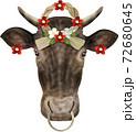 正月飾り牛 72680645