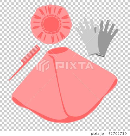 套帽,斗篷,手套和梳子 72702759