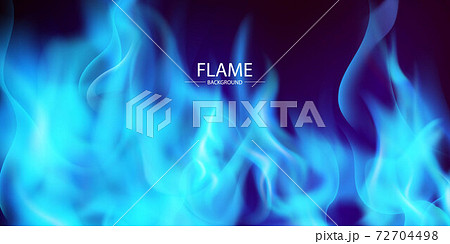 Blue flame and has a black background 72704498