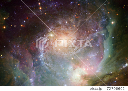 Outer space art. Starfield. Elements of this image furnished by NASA. 72706602