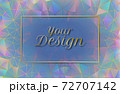 Abstract colorful luxury low poly element with blank space BG 72707142