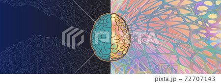Left and right brain functional vector art concept illustration 72707143