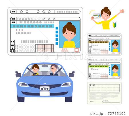 flat type Bun hair mom_Drivers license 72725192