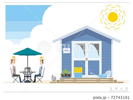 農園の作業小屋イラストD_01 72743191