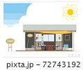 農園の作業小屋イラストB_01 72743192