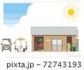 農園の作業小屋イラストA_01 72743193