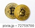 【仮想通貨】ビットコイン 白背景 72759700