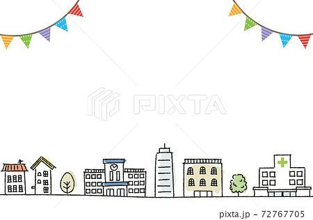 街並み イラスト 手描き 72767705