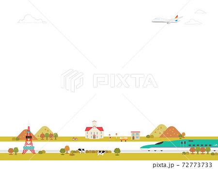 背景にそのまま使える北海道の観光風景(秋) 72773733