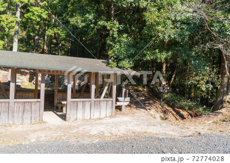 飯道山の杖の権現休憩所(滋賀県甲賀市) 72774028