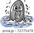 手描き風の妖怪海坊主 72775478