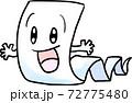 手描き風の妖怪一反木綿 72775480