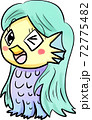 手描き風の妖怪アマビエ 72775482