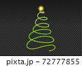 Christmas tree gold bokeh glitter particles isolate on png or transparent  background with sparkling  snow, star light  fo , New Year, Birthdays, Special event, luxury card,  rich style.   72777855