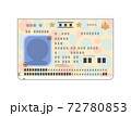 パスポートの顔写真ページのイラスト(汎用・人物シルエット) 72780853