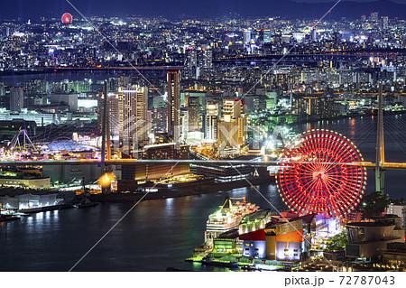 大阪 都市景観 天保山方面  72787043