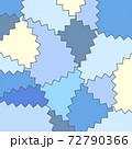 ブループレート壁紙 ジグザグ模様 72790366