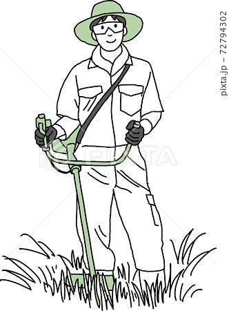 草刈り 72794302