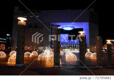 ロマンチック茨城(毎年冬を彩る日立シビックセンターのイルミネーション。ひたちのひかり明日への輝き) 72795881