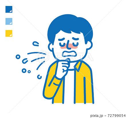 咳する男性 72799054