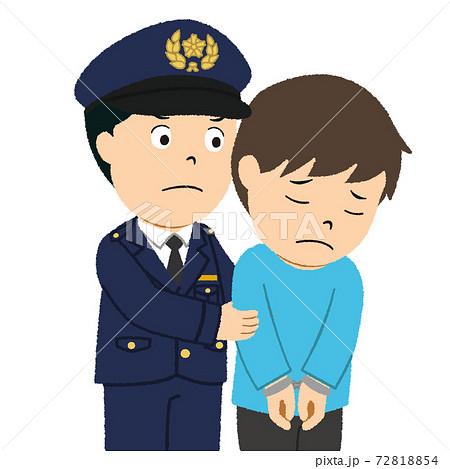 警察に逮捕される男性 72818854