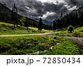Abandoned Gravel Road Through National Park Gesaeuse In Ennstaler Alps In Austria 72850434