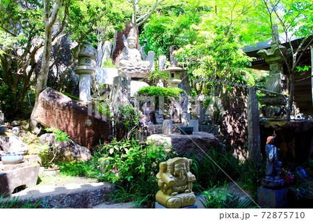 【広島】初夏の宮島弥山大聖院 仏庭の虚空蔵菩薩と多数の仏像 72875710