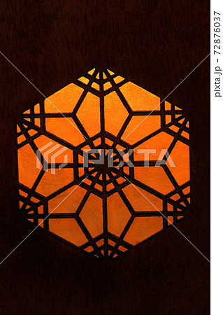 六角形の竹細工 背景素材 72876037