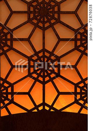 六角形の竹細工 背景素材 72876038
