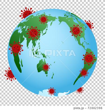 新的日冕病毒感染傳播圖像流行地球世界地圖外國日本 72882398