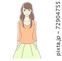 笑顔で立つ女性 72904755
