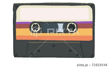 80年代風のカセットテープ 72929348