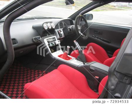 180SXのコクピット!黒いボディーに赤色のシート 72934533