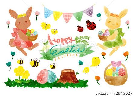 イースター祭のイラストセット 72945927