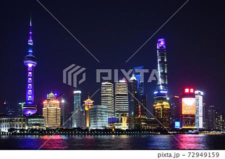 中国 上海市 浦東新区(ほとうしんく)の夜景 72949159