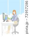 デスクワーク女性OL 72957286