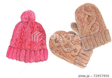 ニット帽と手袋 72957950