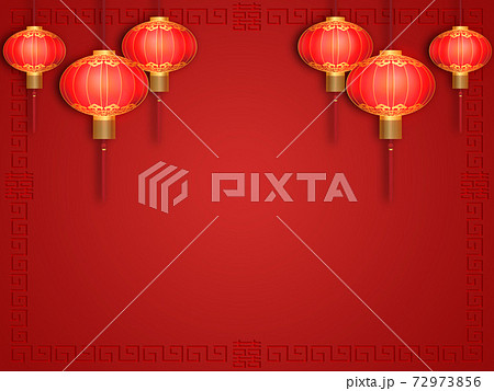 中国紅ランタン 72973856