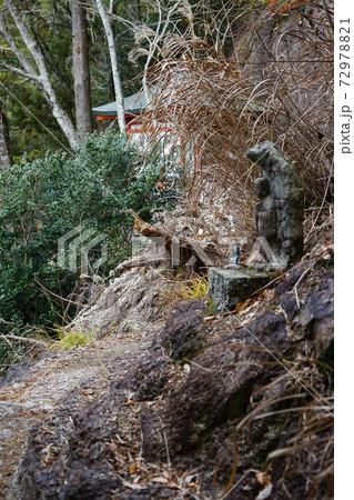 愛知県新城市の鳳来寺山の不動堂付近の風景 72978821
