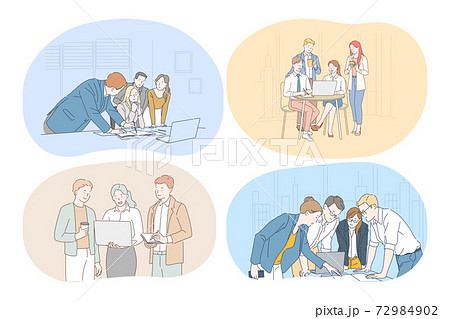 Brainstorming, Teamwork, business, office, negotiations, collaboration concept 72984902