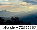 安曇野の朝焼け 72985685