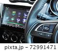 自動車のステアリングオーディオスイッチ 72991471