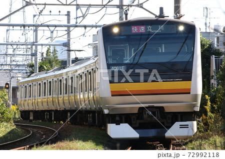 【JR東日本】久地~宿河原間のカーブを往く南武線の快速電車 72992118