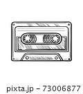 Hand-drawn cassette tape. Vector doodle illustration 73006877