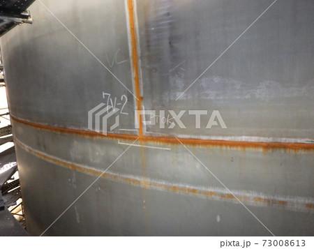 タンク塗装前の溶接部の錆びの状況 73008613
